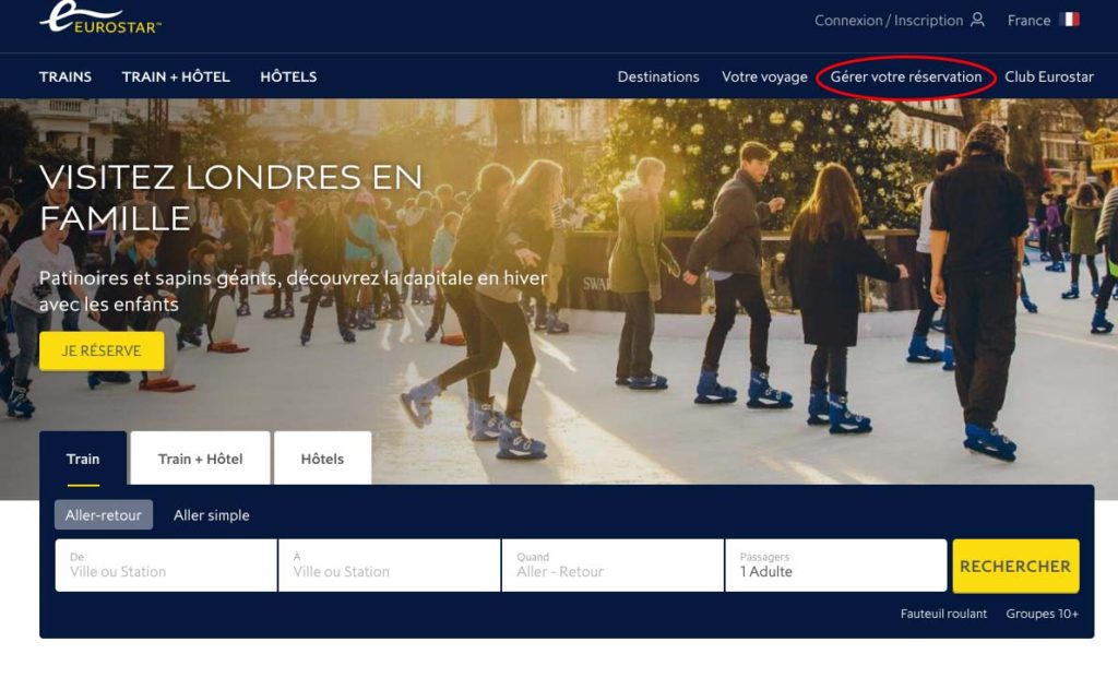Description : ITINÉRAIRE:000 EN COURS DE RÉDACTION:TRAIN:EUROSTAR:Eurostar - gérer votre réservation.jpg